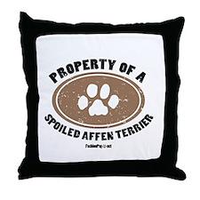Property of an Affen Terrier Throw Pillow