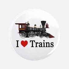 "I LOVE TRAINS 3.5"" Button"