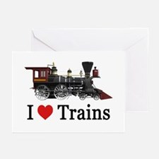 I LOVE TRAINS Greeting Cards (Pk of 20)