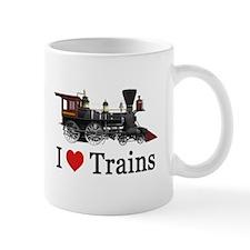 I LOVE TRAINS Small Mugs