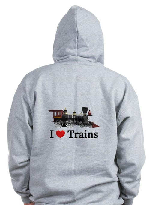 I LOVE TRAINS Zip Hoodie