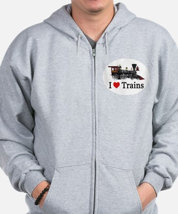 I LOVE TRAINS Zip Hoody