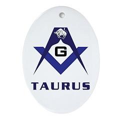 Masonic Taurus Oval Ornament
