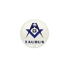 Masonic Taurus Mini Button (10 pack)