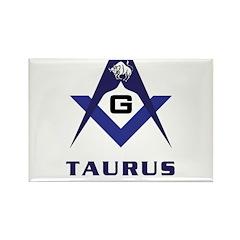 Masonic Taurus Rectangle Magnet