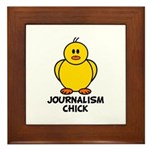 Journalism Chick Framed Tile