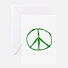 Peace - Green Greeting Card