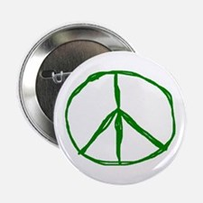 """Peace - Green 2.25"""" Button (10 pack)"""