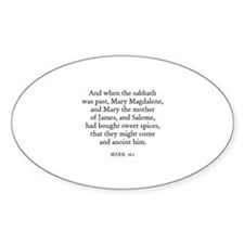 MARK 16:1 Oval Decal