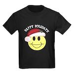 Happy Holidays Kids Dark T-Shirt