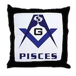 Masonic Pisces Sign Throw Pillow