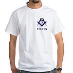 Masonic Pisces Sign White T-Shirt