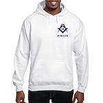 Masonic Pisces Sign Hooded Sweatshirt