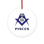 Masonic Pisces Sign Ornament (Round)