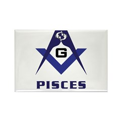 Masonic Pisces Sign Rectangle Magnet (10 pack)