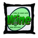 I Love Wine Throw Pillow