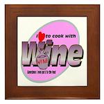 I Love Wine Framed Tile