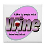 I Love Wine Tile Coaster