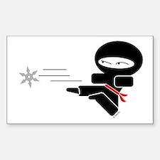 Lil Ninja Rectangle Decal
