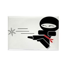 Lil Ninja Rectangle Magnet