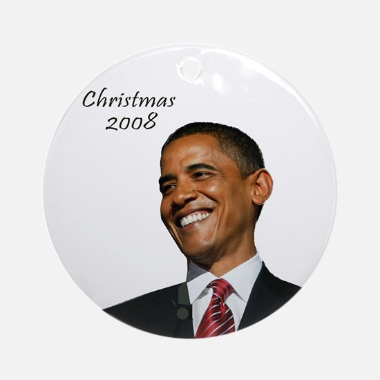 Obama Christmas Ornament (Round)