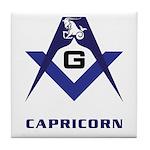 Masonic Capricorn Sign Tile Coaster
