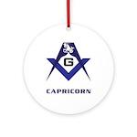 Masonic Capricorn Sign Ornament (Round)