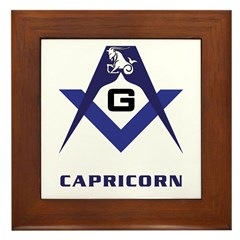 Masonic Capricorn Sign Framed Tile