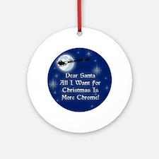 A Chrome Christmas Ornament (Round)