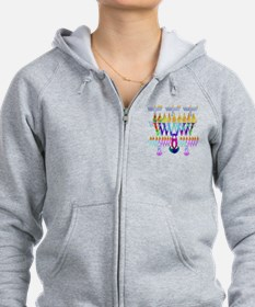 8 Nights Menorah Zip Hoody