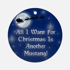 Another Mustang Christmas Ornament (Round)