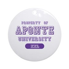 Property of Aponte University Ornament (Round)