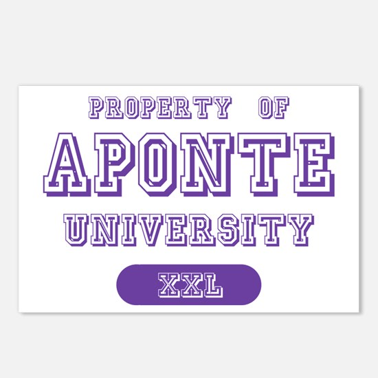 Property of Aponte University Postcards (Package o