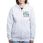 Dreidels Happy Chanukah Women's Zip Hoodie