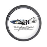 P 51 mustang fighter plane Wall Clocks