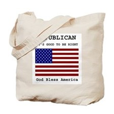 Republican God Bless America Tote Bag