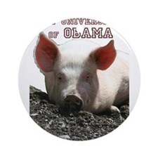 The University of Obama Zoolo Ornament (Round)