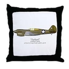 "Preddy's P-40 ""Tarheel"" Throw Pillow"