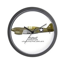 "Preddy's P-40 ""Tarheel"" Wall Clock"