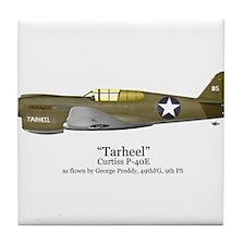 "Preddy's P-40 ""Tarheel"" Tile Coaster"