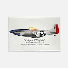 "Preddy's P-51 ""Cripes A'Might Rectangle Magnet (10"