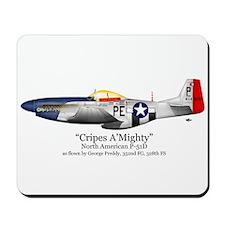 "Preddy's P-51 ""Cripes A'Might Mousepad"