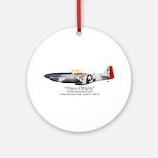 """Preddy's P-51 """"Cripes A'Might Ornament (Round)"""