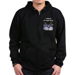 I beat it all night long Zip Hoodie (dark)
