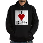 I Love (heart) Bubbe Hoodie (dark)