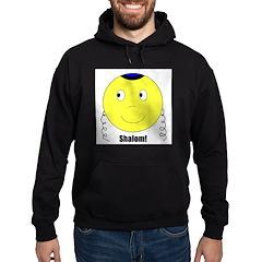 Jewish Rabbi Smiley Face Hoodie (dark)