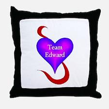 Team Edward Heart Throw Pillow