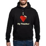 I Love My Trucker Hoodie (dark)
