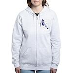 Blue Pin-up Girl Women's Zip Hoodie
