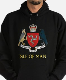 Isle of Man Coat of Arms Hoodie (dark)